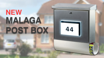 Innovative Burg-Wächter Malaga Post Box with Solar Powered Illuminated Number