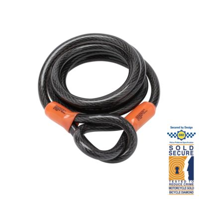 Self-Coiling Security Cables
