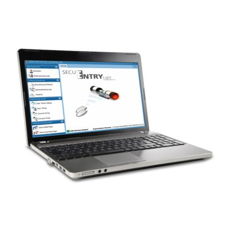 secuENTRY Software am Laptop